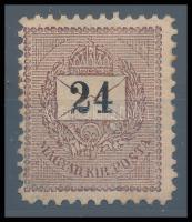 1898 24kr garantáltan eredeti 11 1/2-es fogazással (100.000) Rendkívül ritka RRR!