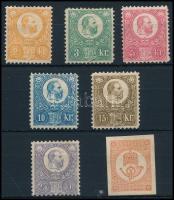 1883 Újnyomat sor Hírlapbélyeggel (70.000)