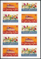 Üdvözlő bélyegek fólialap Greeting stamps foil sheets