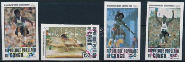 1980 Moszkvai nyári olimpia vágott sor Mi 726-729