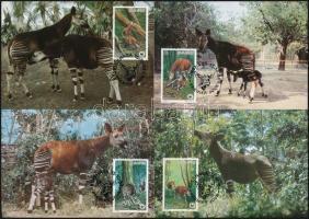 1984 WWF: Okapi sor Mi 875-878 4 db CM-en