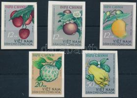 Fruit imperforated set, Gyümölcs vágott sor