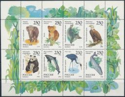 Állatvilág kisív Fauna mini sheet