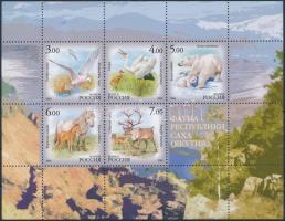 Állatvilág kisív Animals mini sheet