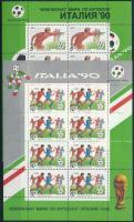 Football World Cup mini sheet pair, Labdarúgó világbajnokság kisívpár
