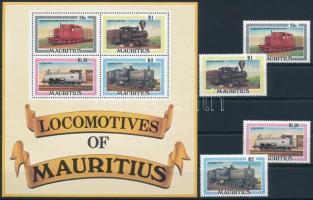 Locomotive set + block Mozdony sor + blokk