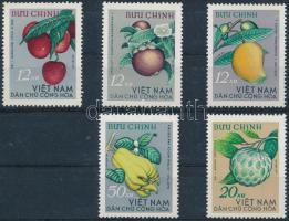 1964 Gyümölcs sor Mi 334-338