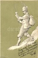 Hiker. B.No. 625. Emb. litho s: Heyer, Természetjáró. B.No. 625. Emb. litho s: Heyer
