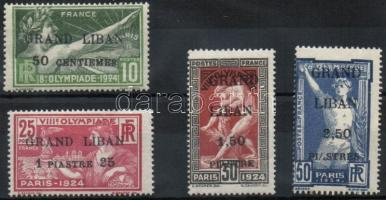 1924 Párizsi olimpia Mi 22-25
