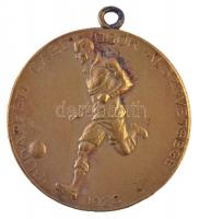 1926. Budapesti Labdarúgók Alszövetsége / III. oszt. ifj. bajn. IV. 1932-33 fém díjérem füllel (41mm) T:2,2- ph.
