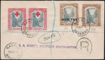 "Registered cover ""NASSAU"" - Southampton, Ajánlott levél ""NASSAU"" - Southampton"