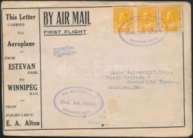 """Első repülés reklám levél  """"ESTEVAN"""" - """"WINNIPEG"""" First flight cover """"ESTEVAN"""" - """"WINNIPEG"""""""