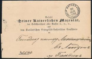 Bélyeg nélküli cári levél Cover without stamp