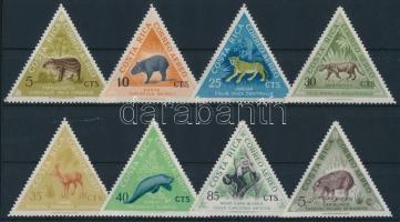 ndigenous mammalian animals set Őshonos emlős állatok sor