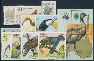 Bird 1978-1989 2 diff set + 1 block + 2 diff values, Madár motívum 1978-1989 2 klf sor + 1 blokk + 2 klf önálló érték