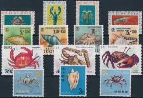 1962-1990 Sea animals 14 diff stamps, 1962-1990 Tengeri állatok 14 klf bélyeg