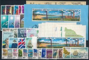 1976-1979 39 stamps, 1976-1979 39 db bélyeg, közte teljes sorok, összefüggések, öntapadós értékek + 2 db blokk