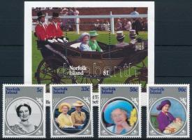 Queen Elizabeth II. set + block Erzsébet anyakirálynő sor + blokk