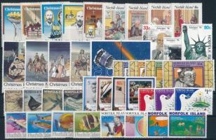 1984-1986 41 stamps, all complete sets 1984-1986 41 db klf bélyeg, teljes sorok