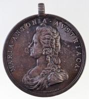 Franciaország 1793. Mária Antónia Ag emlékérem füllel. Szign.: Baldenbach (26,77g/47mm) T:2 patina / France 1793. MARIA ANTONIA AVSTRIACA / PERDV ELLIVM FVRORIS VICTIMA XVI OCTOBRIS MDCCXCIII Ag commemorative medallion with ear. Sign.: Baldenbach (26,77g/47mm) C:XF patina