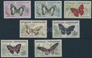 Definitive: Butterfly set 7 values, Forgalmi: pillangó sor 7 értéke