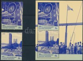 55 éves az ENSZ sor + blokk 55th anniversary of UNO set + block