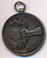 1929. Budapesti Egyetemi Athletikai Club versenydíja / Virtvti et fortitvdini Br díjérem mellszalag nélkül (34,5mm) T:2