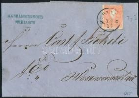 1858 5kr I. levélen ,,MEDIASCH