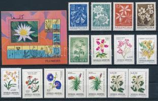 1960-1997 Flower 3 sets + 1 block + 22 stamps, 1960-1997 Virág motívum 3 sor + 1 blokk + 22 klf önálló érték