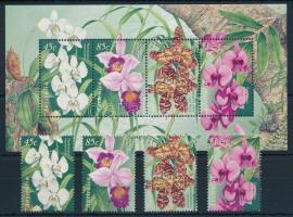 Flower set + block Virágok sor + blokk