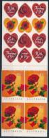 Valentine's Day self-adhesive stamp-booklet Valentin nap öntapadós bélyegfüzet