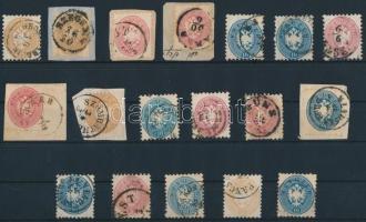 1864 18 db bélyeg szép / olvasható bélyegzésekkel