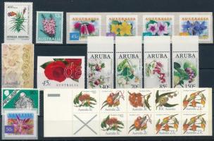 1982-2003 Virág motívum 2 sor + 1 bélyegfüzet + 6 klf önálló érték 1982-2003 Flower 2 sets + 1 stamp-booklet + 6 stamps