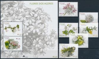 Virágok + blokk, Flowers + block