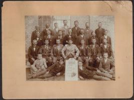 1897 Fegyver és Gépgyár (FÉG) Csavar-osztály, fotó, kartonra kasírozva, 16,5x22,5 cm.