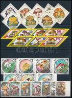1964-1996 Mushroom 8 sets, 1964-1996 Gomba motívum 8 klf sor 4 stecklapon