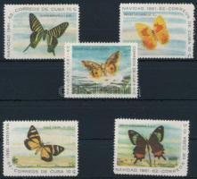 1961 Pillangó sor záróértékei Mi 741-745