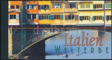 UNESCO World heritage: Italy stampbooklet, UNESCO-világörökség: Olaszország bélyegfüzet
