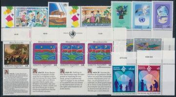 1993-1994 10 stamps + 2 stripes of 3, 1993-1994 10 klf bélyeg + 2 klf hármascsík