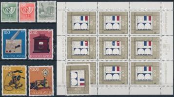 1977-1978 5 set + 6 minisheet + 4 stamps 1977-1978 5 db sor + 6 klf kisív + 4 önálló érték 4 stecklapon