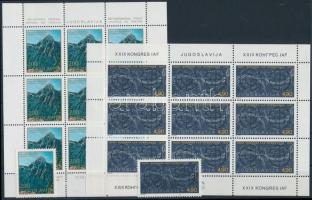 3 set + 3 minisheet + 8 stamps 3 db sor + 3 klf kisív + 8 önálló érték 3 stecklapon