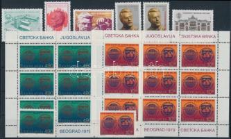 1979-1980 1 set + 5 minisheet + 13 stamps 1979-1980 1 sor + 5 kisív + 13 klf önálló érték 3 stecklapon