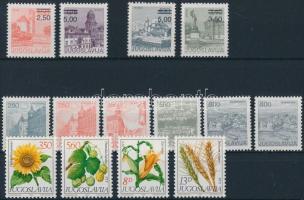 1980-1981 5 set + 5 minisheet + 12 stamps, 1980-1981 5 db sor + 5 kisív + 12 klf önálló érték 4 stecklapon