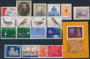 1981-1982 6 set + 3 minisheet + 1 block + 15 stamps 1981-1982 6 db sor + 3 kisív + 1 blokk + 15 klf önálló érték 4 stecklapon