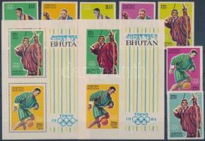 1964 Nyári olimpia sor Mi 31-37 A + blokkpár Mi 1 B+C