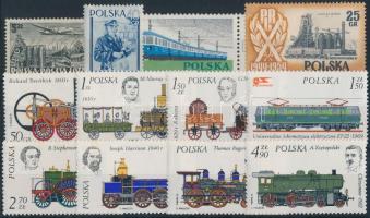1952-2001 Railway 3 set + 13 stamp 1952-2001 Vasút motívum 3 sor + 13 klf önálló érték