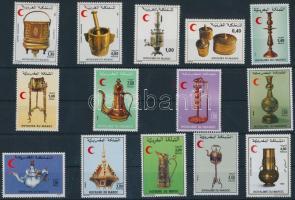 1979-1994 Morocco Red Crescent 14 stamps, 1979-1994 Marokkói Vörös Félhold 14 klf bélyeg