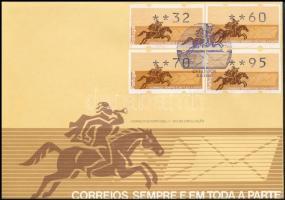 4 automatic stamps FDC, 4 db automatabélyeg FDC-n