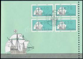 4 automatic stamp FDC, 4 klf automatabélyeg FDC-n