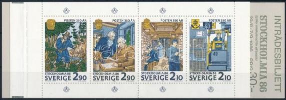 International Stamp Exhibition STOCKHOLMIA stamp-booklet, Nemzetközi Bélyegkiállítás STOCKHOLMIA bélyegfüzet